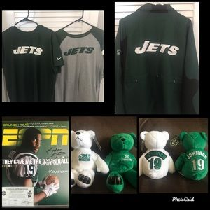 New York Jets XL shirts/jacket with signed mag